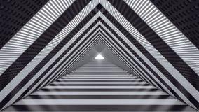 Abstrakter futuristischer Geschwindigkeitstunnel 3d übertragen Illustration 3d Stockfoto