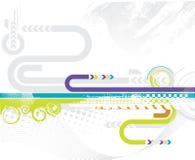 Abstrakter futuristischer Hintergrund Lizenzfreies Stockfoto