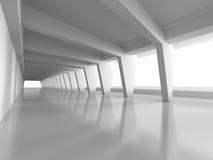 Abstrakter futuristischer Hintergrund der Architektur-3d Stockbilder