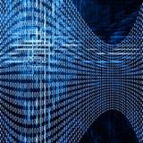 Abstrakter futuristischer Hintergrund mit Kennziffern Stockfoto