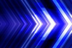 Abstrakter futuristischer Hintergrund mit Pfeilen Stockbild