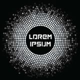 Abstrakter futuristischer Hintergrund mit silbernem Mosaik Lizenzfreie Stockbilder