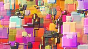 Abstrakter futuristischer lebhafter Hintergrund stock footage