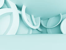 Abstrakter futuristischer leerer Raum-Innenarchitektur-Hintergrund Stockfotos