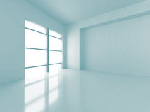 Abstrakter futuristischer moderner leerer Innenhintergrund Stockfoto