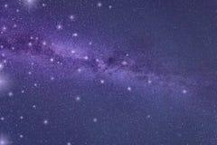 Abstrakter Galaxiehintergrund, ultraviolettes Konzept - Farbe des Jahres 2018 Lizenzfreie Stockbilder