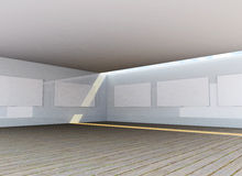 Abstrakter Galerieinnenraum Lizenzfreies Stockfoto