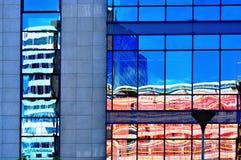 Abstrakter Gebäudehintergrund Stockfotografie