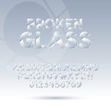 Abstrakter gebrochener Glasguß und Zahlen, ENV 10 Vec Lizenzfreie Stockfotografie