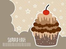 Abstrakter Geburtstaghintergrund mit Kuchen Lizenzfreie Stockfotografie