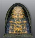 Abstrakter Gegenstand erinnernd von den gotischen befleckten glas lizenzfreie abbildung