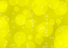 Abstrakter gelber bokeh Unschärfehintergrund Stockbilder