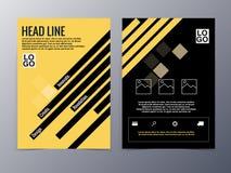 Abstrakter gelber geometrischer Musterbroschürendesign-Schablonenvektor Stockfoto