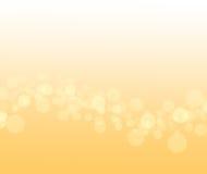 Abstrakter gelber Hintergrund mit bokeh Stockfotos