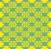 Abstrakter gelber und blauer geometrischer Hintergrund - Vektor Lizenzfreies Stockfoto