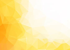 Abstrakter gelber weißer Hintergrund des Vektors Stockbilder