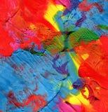 Abstrakter gemalter Acrylhintergrund Stockbild