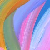 Abstrakter gemalter Acrylhintergrund Lizenzfreies Stockbild