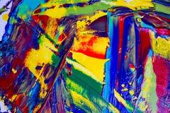 Abstrakter gemalter Acrylhintergrund Lizenzfreie Stockfotos