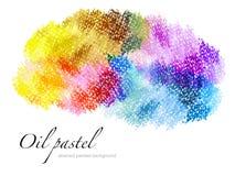 Abstrakter gemalter Hintergrund des Öls Pastell lizenzfreies stockbild