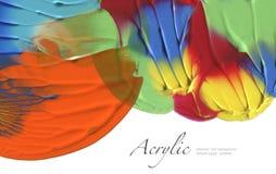 Abstrakter gemalter Hintergrund des Aquarells Fleck Masern Sie Papier Isolator Lizenzfreies Stockbild