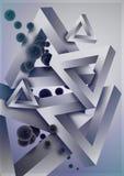 Abstrakter geometrischer Aufbau 2 Stockbilder