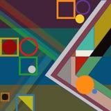 Abstrakter geometrischer Aufbau Stockbild