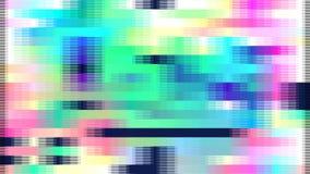 Abstrakter geometrischer Aufbau Störschub-Geräusch-Video stock abbildung