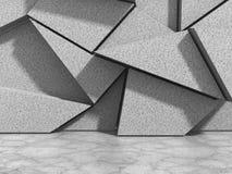 Abstrakter geometrischer Betonmauerhintergrund Stockfoto