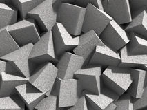 Abstrakter geometrischer Betonwürfelblockhintergrund Stockbild