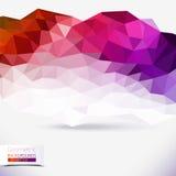 Abstrakter geometrischer bunter Hintergrund Stockfotografie