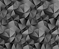Abstrakter geometrischer dreieckiger Vektor-nahtloses Muster Stockfoto