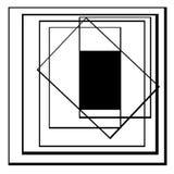 Abstrakter geometrischer Formhintergrund Stockbilder