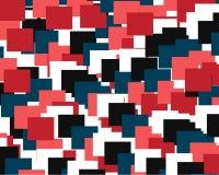 Abstrakter geometrischer Hintergrund, der einem Satz aus farbigen Quadraten besteht vektor abbildung