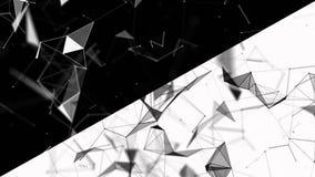 Abstrakter geometrischer Hintergrund mit beweglichen Linien, Punkten und Dreiecken Plexusphantasie-Zusammenfassungstechnologie Sc stock abbildung