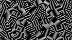 Abstrakter geometrischer Hintergrund mit einem Alphakanal Dünne Linien bewegen sich endlos stock abbildung