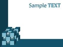 Abstrakter geometrischer Hintergrund mit Exemplarplatz Lizenzfreie Stockfotografie