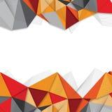 Abstrakter geometrischer Hintergrund mit Linie und Dreiecken Stockfotografie
