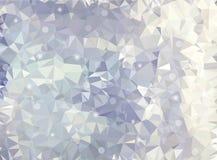 Abstrakter geometrischer Hintergrund mit Polygonen Molekül und Kommunikations-Hintergrund Auch im corel abgehobenen Betrag Blaue  Lizenzfreie Abbildung