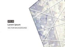 Abstrakter geometrischer Hintergrund mit Polygonen Molekül und Kommunikations-Hintergrund Vektorillustration Vektorillustration f Vektor Abbildung