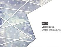 Abstrakter geometrischer Hintergrund mit Polygonen Molekül und Kommunikations-Hintergrund Vektorillustration Vektorillustration f Stockfotografie