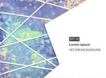 Abstrakter geometrischer Hintergrund mit Polygonen Molekül und Kommunikations-Hintergrund Vektorillustration für Geschäftsdarstel Lizenzfreie Abbildung