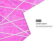 Abstrakter geometrischer Hintergrund mit Polygonen Molekül und Kommunikations-Hintergrund Vektorillustration für Geschäftsdarstel Vektor Abbildung