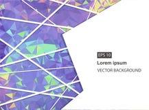 Abstrakter geometrischer Hintergrund mit Polygonen Molekül und Kommunikations-Hintergrund Vektorillustration für Geschäftsdarstel Lizenzfreie Stockfotografie