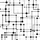 Abstrakter geometrischer Hintergrund mit Quadraten und Punkten Stockbild