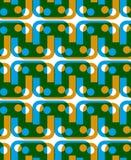 Abstrakter geometrischer Hintergrund, nahtloses Muster, Vektor backgrou stock abbildung