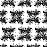 Abstrakter geometrischer Hintergrund Schwarzweiss Stockbilder