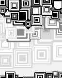 Abstrakter geometrischer Hintergrund von den runden Quadraten Lizenzfreies Stockfoto