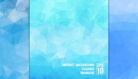 Abstrakter geometrischer Hintergrund von Dreiecken in den hellblauen Farben Stockfotografie