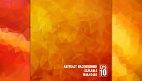 Abstrakter geometrischer Hintergrund von Dreiecken in den orange Farben Lizenzfreie Stockfotos